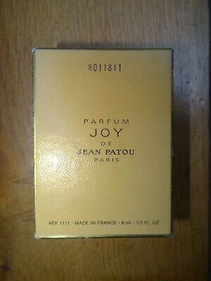 Vintage Parfum Joy De Jean Patou Paris 6ml Bottle Perfume Rare 1970s Used • 30£