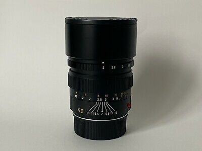 Leica Summicron-M 90mm F2 E55 Black • 749£