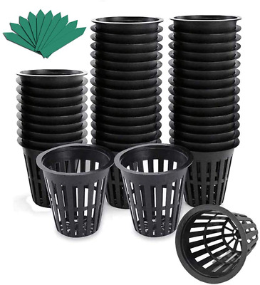$ CDN36.99 • Buy 50 Pack Net Pots, 3 Inch Nursery Pots Heavy Duty Net Cups With 50 Pcs Plant Labe
