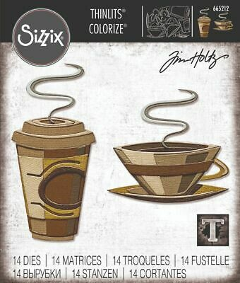£12.99 • Buy NEW Cafe Colorize By Tim Holtz - Sizzix Thinlits Die Set
