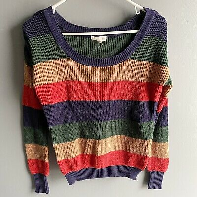 $ CDN6.37 • Buy Anthropologie Mine Striped Colorblock Sweater Size Small
