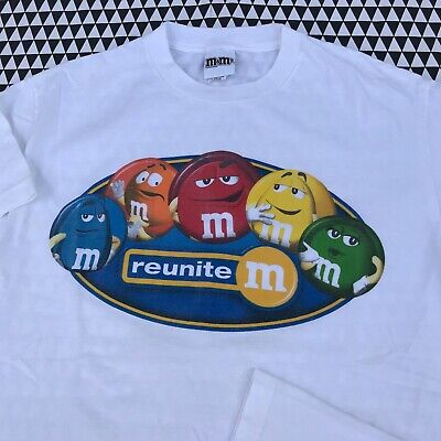 $19.99 • Buy M&Ms Reunite T Shirt Size L Large Vintage 2000s Candy Snack Promo Tee