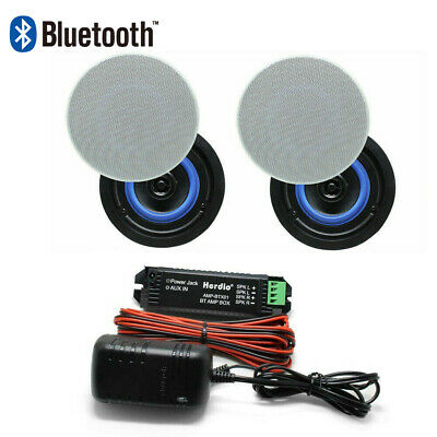 Pair Of 160 Watts 2-Way Bluetooth Flush Mount Ceiling Speakers For Home Bathroom • 61.99£