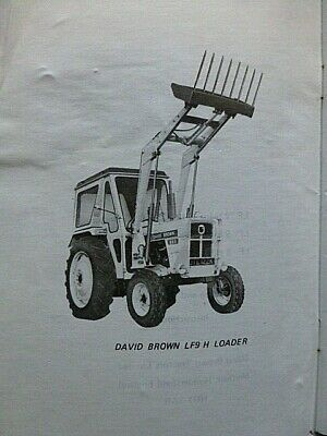 AU27.95 • Buy DAVID BROWN   Front Mounted Loaders   LF12H~9H~8H TRACTOR 1973 Operating MANUAL