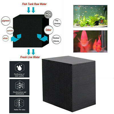 Eco-Aquarium Water Purifier Cube Water Cleaning Filter Activated Carbon Two Size • 8.99£