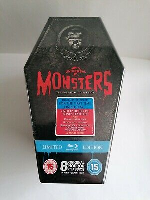 Universal Monsters The Essential Collection (Blu-ray2012) Limited Edition Coffin • 99.95£