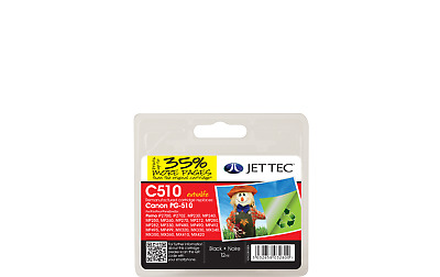 Jet Tec C510 Remanufactured Canon PG-510 Black Inkjet Printer Ink Cartridges • 16.95£