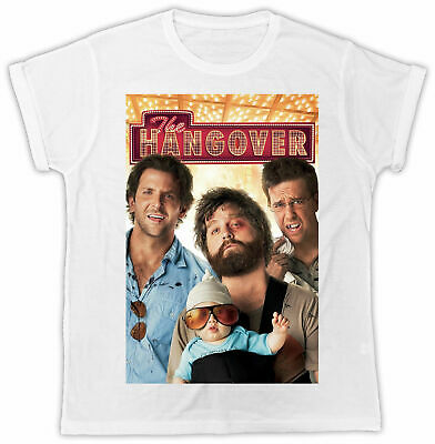 £5.99 • Buy The Hangover T-shirt Movie Poster Fashion Unisex White Tee Ideal Gift Retro 00s