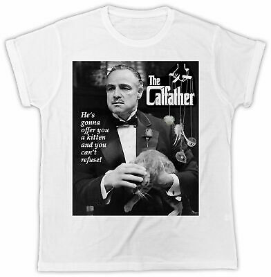 £7.99 • Buy  The Catfather T-shirt Godfather Movie Poster Unisex Cool Funny Retro Pussy Tee