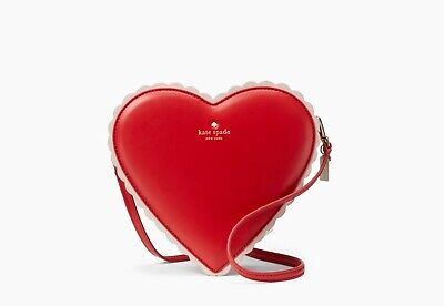 $ CDN236.03 • Buy NWT Kate Spade Yours Truly Chocolate Heart Shaped Red Crossbody Bag