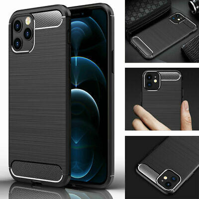£3.79 • Buy Case For IPhone 11 12 13Pro Max XR X XS Max 8 7 SE Shockproof Silicone Carbon