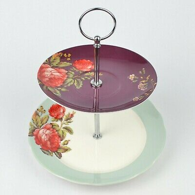 Victoria & Albert V & A Museum 2 Tier Cake Stand (Boxed) • 14.99£