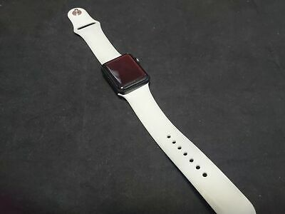 $ CDN164.50 • Buy Apple Watch (GPS) Series 3 38mm Space Gray Case - White Sport Band