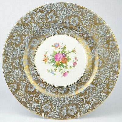 Minton Brocade Lilac Cabinet Plate Summer Flowers • 29.99£
