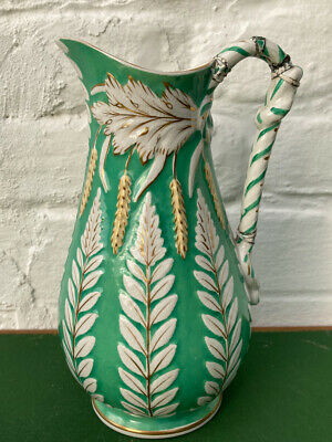 Antique Harvest Jug Pitcher Relief Moulded Brownfield? Repaired Handle  • 15£
