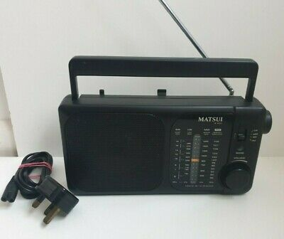 Matsui R400 4 Band Radio AM FM SW Excellent Working Condition. • 13.99£