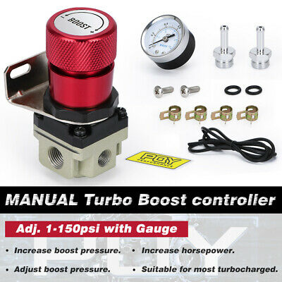 $25.64 • Buy Manual Boost Controller With Gauge Universal Turbo Car 1-150 Psi USA