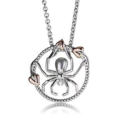 Clogau Silver Pendant 22  925 Touchwood Spider Web Welsh Rose Gold Gift Wrap • 117.50£
