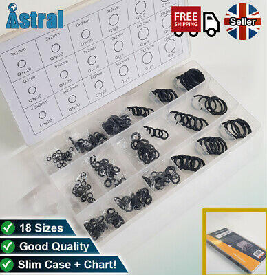 Rubber O Ring/ Gasket/ Washer 225Pc Mixed Box | Seals Hose, Pipe, Tap, Valve   • 5.99£