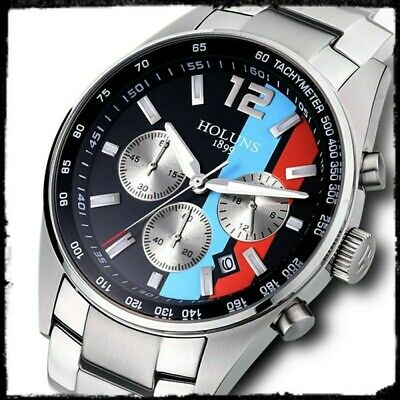 Motorsport Car Style Watch Steve McQueen Le Mans Style Stripes, New With Tag  • 39.99£