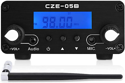 $129.99 • Buy FM Transmitter For Church, Elikliv 0.1/0.5W LCD PLL Wireless Stereo Broadcast