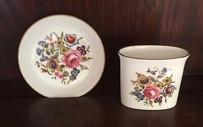 Royal Worcester Fine Bone China Trinket/Pin Dish And Tooth Pick Holder • 5£