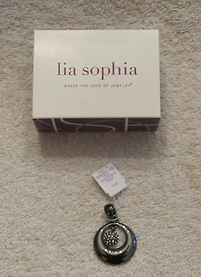 $ CDN25.11 • Buy NWT Lia Sophia Fashion Jewelry  Magnified  Silver Pendant 1 1/2 Inch Slide