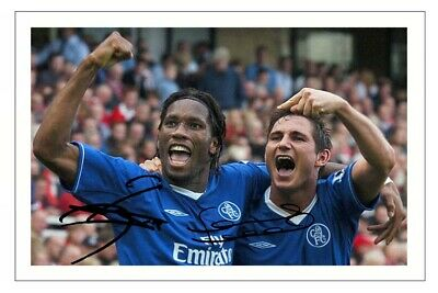 £1.89 • Buy DIDIER DROGBA & FRANK LAMPARD Signed Autograph PHOTO Gift Print CHELSEA