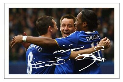 £1.89 • Buy FRANK LAMPARD DIDIER DROGBA JOHN TERRY Signed Autograph PHOTO Gift Print CHELSEA