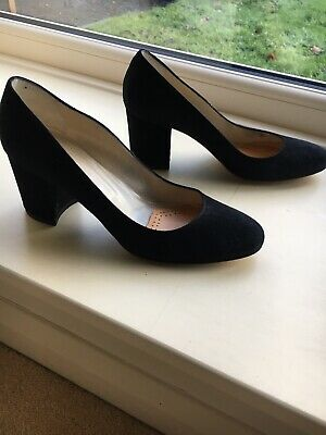Hobbs Black Suede High Court Shoes Size 38 (size 5) • 22£