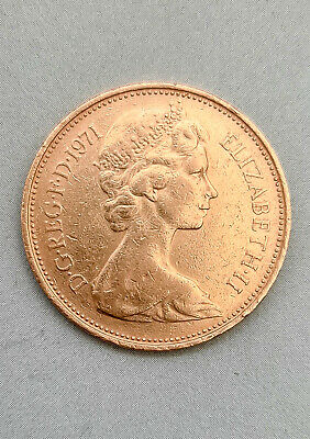 £1.99 • Buy RARE 2p 1971 TWO NEW PENCE  Two Pence COIN UK R001