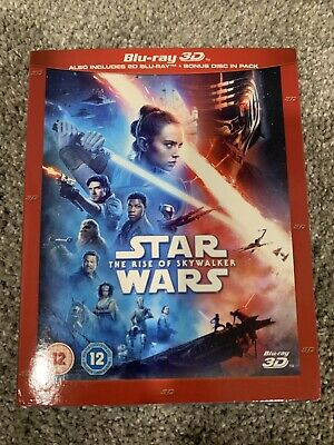 AU33.53 • Buy Star Wars: The Rise Of Skywalker (Blu-ray Disc 3D & 2D, 2019) W/Slip Cover