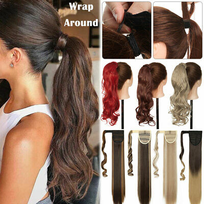 £8.95 • Buy Real Thick Clip In One Piece Hair Extensions Ponytail Wrap Around Pony Tail UK W