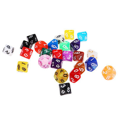 AU12.32 • Buy 25 Polyhedral Dice Digital D10 10-Sided 16mm For   Game Toy