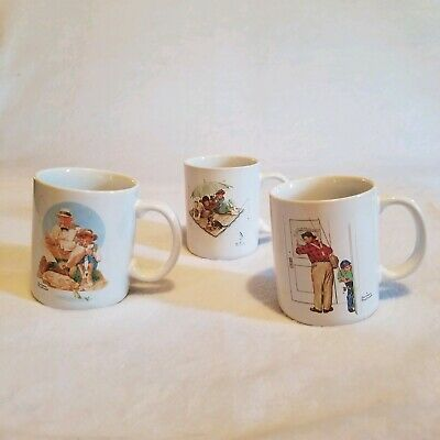 $ CDN15.14 • Buy Vintage Norman Rockwell Mugs Museum Collection  1987 Lot Of 3 Preowned