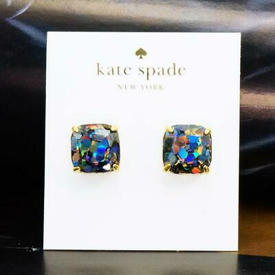 $ CDN29.33 • Buy NWT Kate Spade Glitter Square Stud Earrings $38 Black Multi
