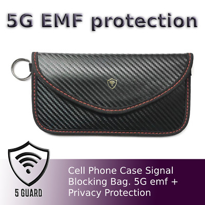 Cell Phone Case Signal Blocking Bag. 5G Emf Privacy Protection Anti-Radiation • 12.30£