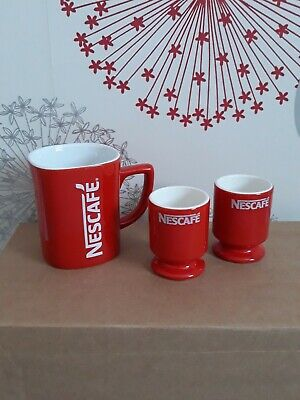 Vintage Collectable Nescafe Mug And Egg Cups • 9.99£