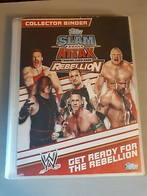 Slam Attax Trading Card Game Rebellion - Collector Binder And 90 Cards • 9.99£