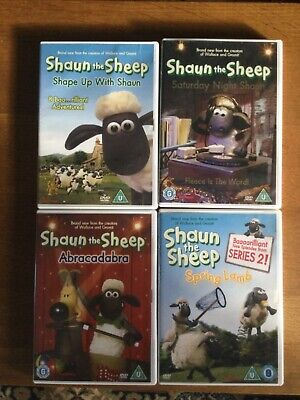 Shaun The Sheep 4 DVDs Collection - Very Good Condition • 6.99£