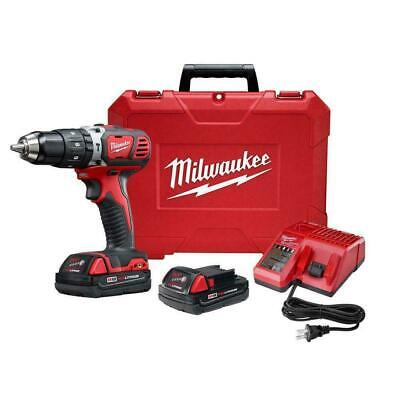 Milwaukee M18 Hammer Drill Driver Kit 18V 1.5 Ah Batteries Charger Case NEW • 144.71£