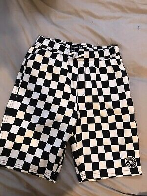 Abercrombie Kids Swimming Trunks Shorts Black And White Checked Size 13-14 BNWT • 5£