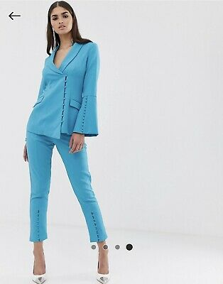 BNWT Lavish Alice @ ASOS Turquoise Blazer And Trousers - Suit RRP £130 Size 10 • 30£