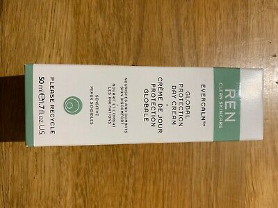 Ren Clean Skincare Evercalm Global Protection Day Cream BRAND NEW • 15£