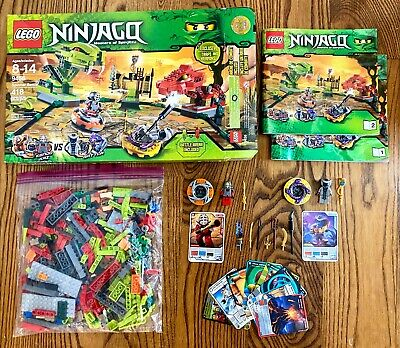 £53.88 • Buy LEGO Ninjago Spinner Battle 9456 - 100% Complete W/ All Minifigs And Cards!!!