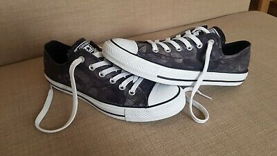 Converse All Star Unisex Grey Camouflage Trainers UK Size 7 EU Size 40 • 18.99£