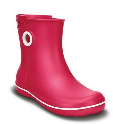 CROCS Pink Jaunt Shorty Croslite Pull On Rain Boots/Wellies UK 8.5/9 (W11)  • 14.99£