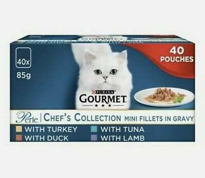 Gourmet Perle Cat Food Chef Collection 40X85g • 19.49£