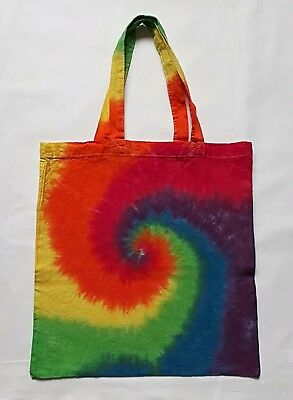 £5 • Buy Tie Dye Cotton Tote Bag For Life Shopping Eco Environment Present Gift Rainbow