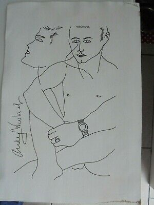 Andy Warhol Drawing Male Study Signed • 75£